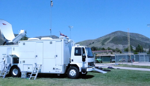 Reno Video satellite and production truck on location